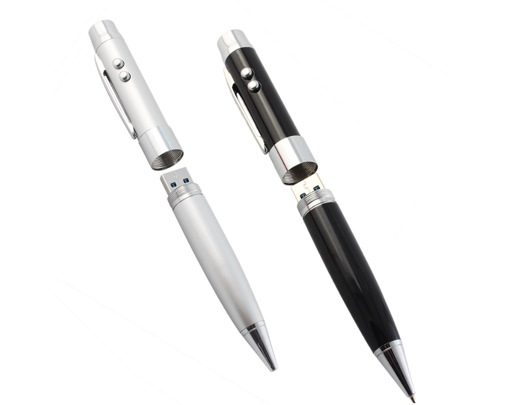 5-IN-1 MULTI FUNCTION PEN W/LASER 2 LIGHTS USB FLASH DRIVE 2.0
