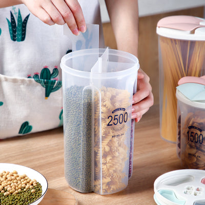 Healthy Containers Cereal Grain Dry Food Storage Tank Transparent Cover Plastic Case