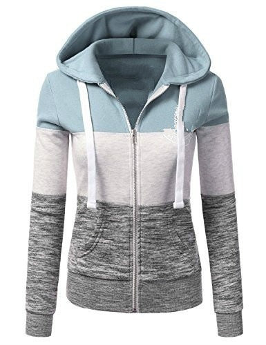 Colorblock Hooded Pullover Sweatshirt