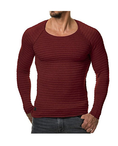 Men's Long Sleeved Knit Compression Shirt