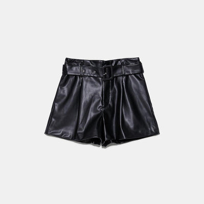 Women's leather shorts