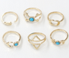 Vintage six-piece ring
