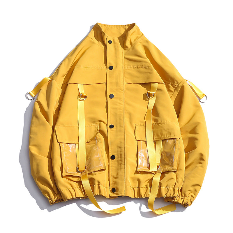 Workwear solid color loose jacket
