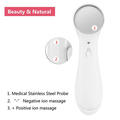 Electric Anti-aging Skin Tighten Device High Frequency Ultrasonic Ionic Face Pore Cleanser Wrinkle Remover Skin Lifting Massager