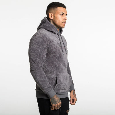 Men's plus velvet padded coat hooded sweater