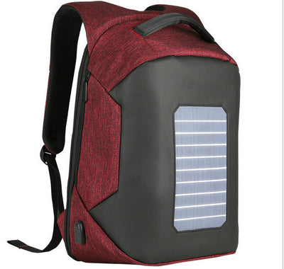 Business backpack outdoor solar usb charging sports backpack