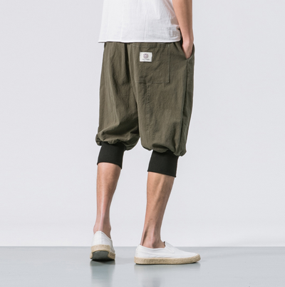 Luokou loose casual cropped trousers