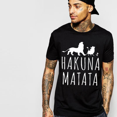 Quick selling explosion man T-shirt 2016 summer new cotton short sleeve letter printing HAKUNA MATATA T-shirt