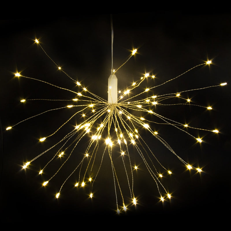 Led Starburst String Light DIY Copper Fairy String Mode Firework Christmas Explosion Wedding lighting