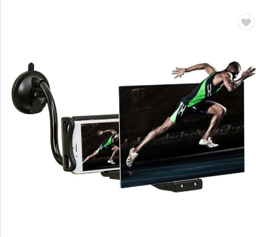 12 inch mobile phone 3d screen amplifier lazy bracket