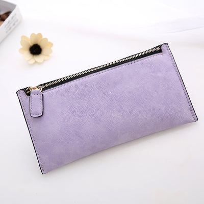 Matte leather long card holder