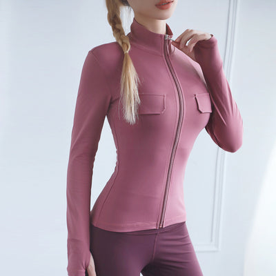 Zip Long Sleeve Workout Yoga Wear