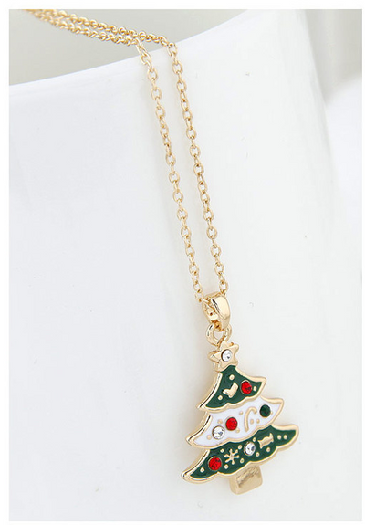 Christmas necklace santa claus sweater chain