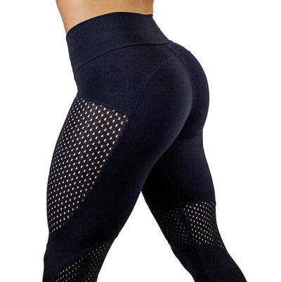 New Quick Dry Mesh leggings Leggings sexy Push Up Sports Pants