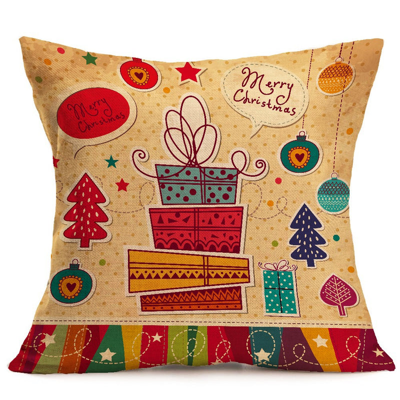 Christmas festive pattern car sofa pillow pillowcase