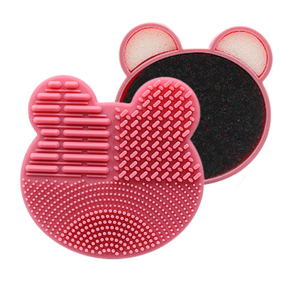 Makeup brush cleaning box