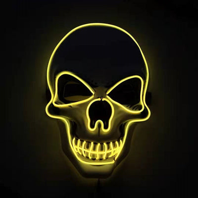 Skull LED Glowing Halloween Mask