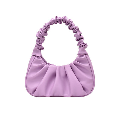 Casual pleated hand - held underarm bag