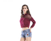 Spring and autumn new casual loose short paragraph long sleeve loose hooded gauze short sweater T-shirt female