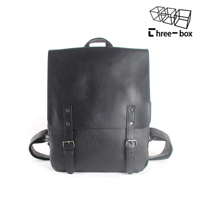 Retro Leather Backpack stylish men and women Backpack School Bag wind Korean high school students