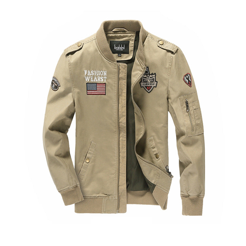 Cross-border for Amazon AliExpress Spring and Autumn New Men's Jacket Men's Air Force One Jacket Men