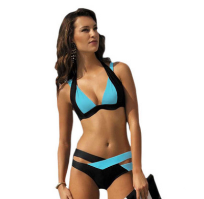 Color split swimsuit for sexy bikini Ladies, European and American  style