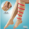 Pressure exposed toe compression socks