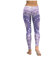 Light Purple and White Mandala Flower Yoga/Workout Leggings