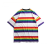 Rainbow Striped Loose T-Shirt