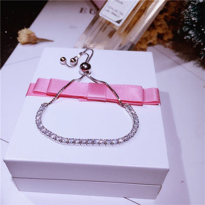 925 pure silver cleaning bracelet, star shining bracelet with the same paragraph, recommend diamond hand jewelry, silver jewelry