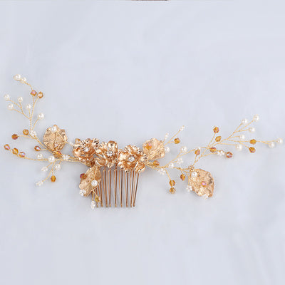 YS803 comb hair crystal diamond disc inserted bride wedding wedding comb handmade jewelry accessories