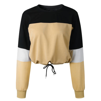 Autumn Fashion Patchwork Color Sweatshirts Womens 2020 Long Sleeve Sweatshirt Hoodies Tops
