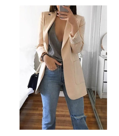 Long sleeve solid color cardigan
