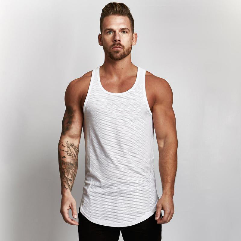 gym clothes tank top sportswear vest men