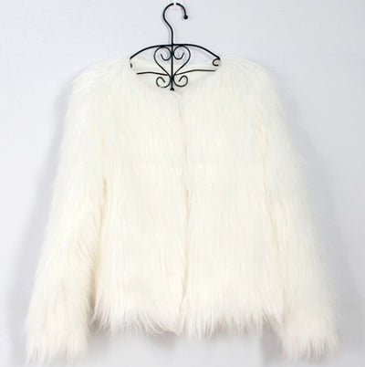 new autumn and winter foreign trade ladies fur coat long-sleeved women drift coat jacket wool coat V word collar