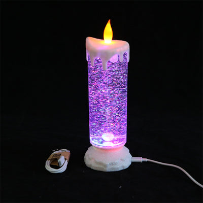 Glass Candle Colorful Fantasy Cartoon Led Night Light Usb Power-Saving