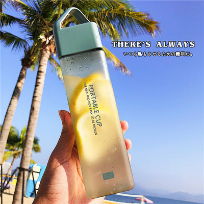 Simple plastic cup portable water bottle