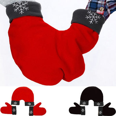 3pcs/set Couple Lovers Gloves Polar Fleece Sweethearts Thicken Winter Warm Lining Glove Christmas Gift Lovers Mittens