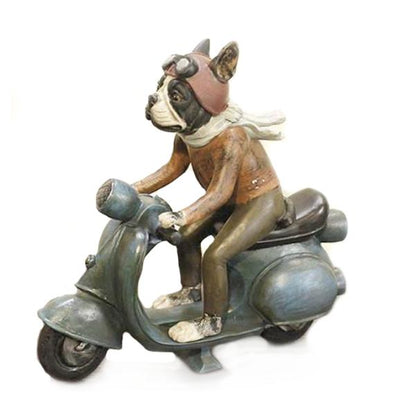 French Bulldog Scooter Rider