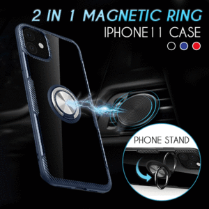 Ultra Thin Transparent iPhone Case With Magnetic Finger Ring Holder