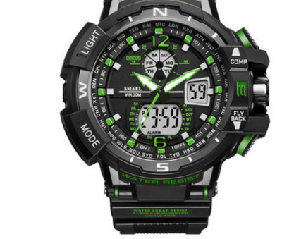 dual display cold light electronic watch waterproof multi-function mountaineering men's led watch