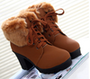 Thick with Martin boots short boots British style high heel cotton boots