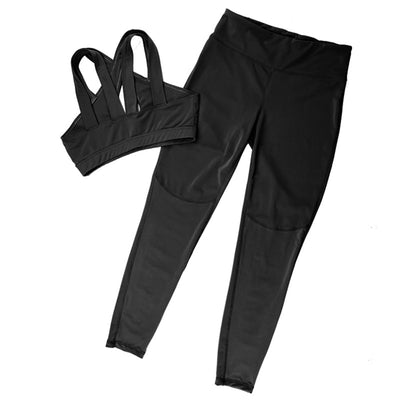 Newest Pink Hollow Women Sets Elastic Running Sport Suit Fitness Clothing Workout Sport Wear Sports Bra+Pant