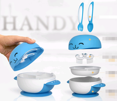 BUNNY BOWL 6 PIECE SET WITH FORK AND SPOON