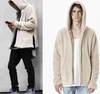 Men's clothing 2020 new spring Europe and the United States loose FOG lambskin warm hooded sweater coat