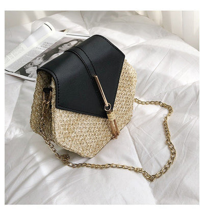 Crossbody single shoulder chain fringed pouch