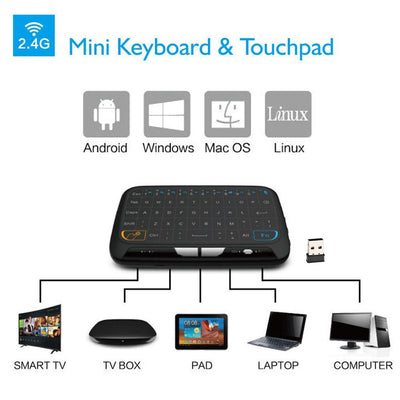 Mini H18 Wireless Keyboard 2.4GHz Air/Fly Mouse Remote Control Game Touchpad For Android TV Box Notebook Tablet