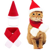 Pet supplies Christmas hat scarf set cat and dog small pet
