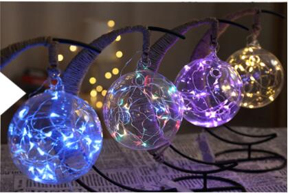 LED creative hand rope rattan ball copper wire lamp lamp room bedroom decoration lamp Christmas lamp light night lamp