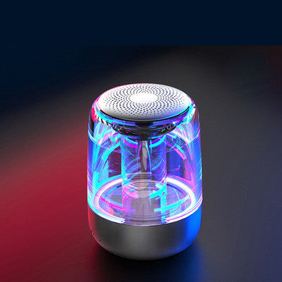 Mini bluetooth speaker, C7 crystal glass with LED